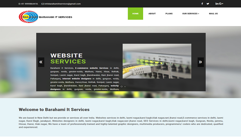 Websites services in delhi